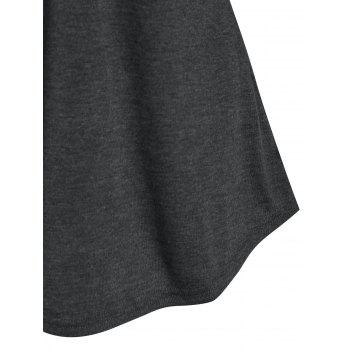 Half Button Double Pockets Heathered T-shirt