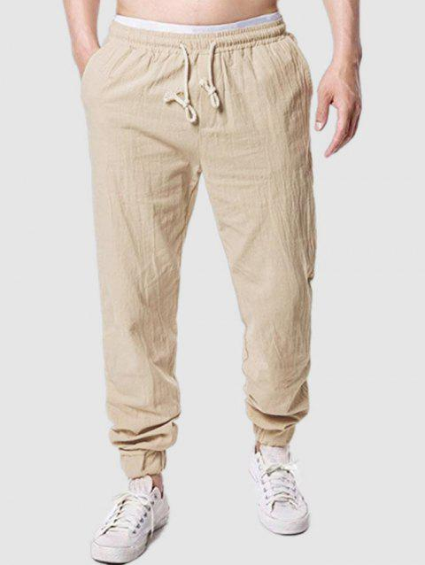 Beam Feet Casual Solid Color Pants