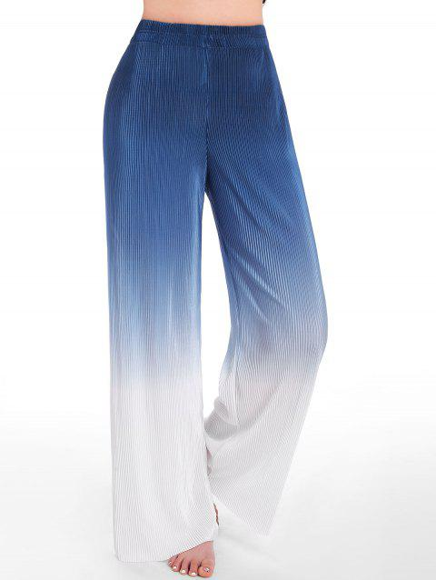 Ombre Pleated Wide Leg Pants