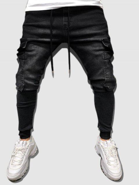 Multi Pockets Tapered Cargo Jeans