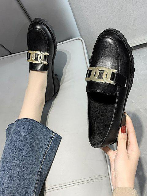 Chain Embellished Slip-On Shoes