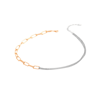 Spliced Chain Hip Hop Style Necklace