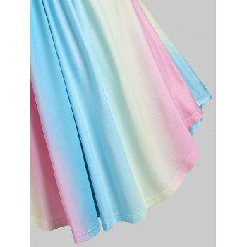 Rainbow Lace Insert Ruched Mock Button T Shirt