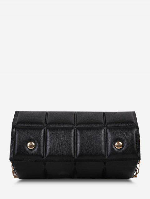 Square-Quilted Chain Crossbody Bag