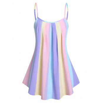Ombre Pleated Cami Tank Top