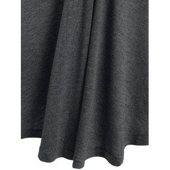 Twist Front Heathered Long Sleeve T-shirt