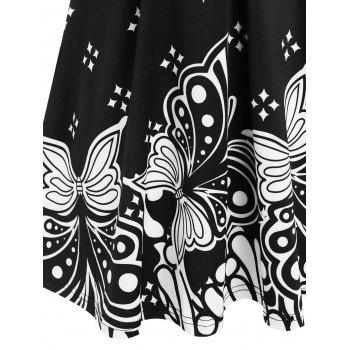 Plus Size Butterfly Printed Front Twist T Shirt