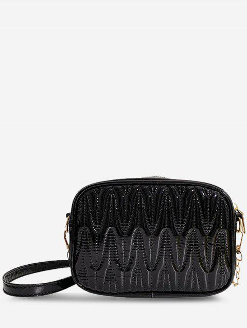 Half-Chain Strap Quilted Crossbody Bag