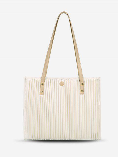 Thin Strap Pleated Tote Bag