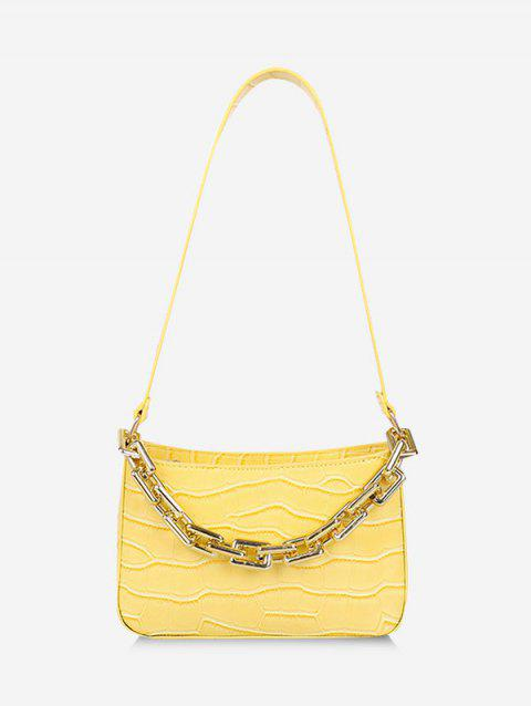 Chunky Chain Embossed Shoulder Bag