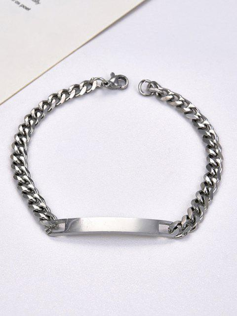 Bar Stainless Steel Curb Chain ID Bracelet
