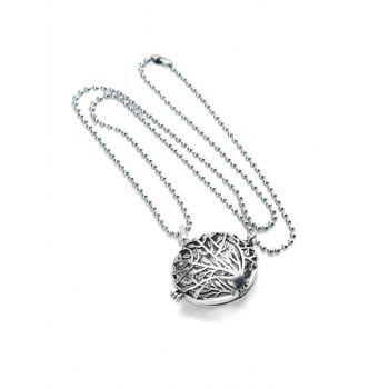 Retro Tree Pattern Hollow Out Locket Necklace