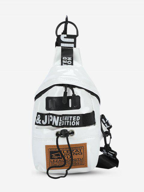 Letters Pattern Patch Casual Chest Bag