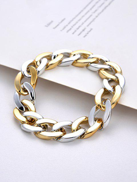 Free Adjustable Thick Chain Mixed Color Bracelet