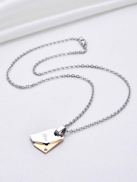 Stainless Steel Engraved Layered Book Shape Charm Necklace