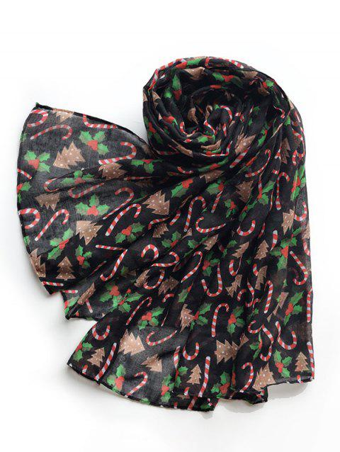 Christmas Candy Cane Pattern Voile Scarf