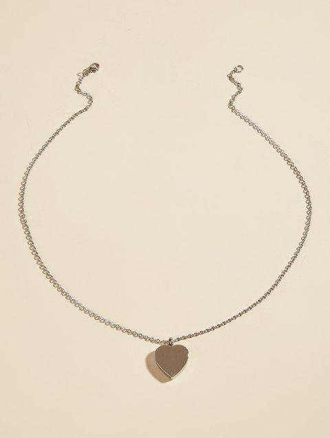 Stainless Steel Heart Charm Opening Necklace