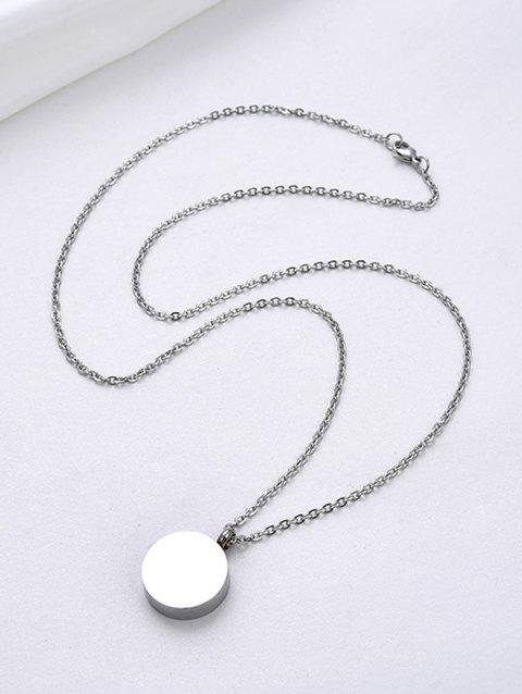 Stainless Steel Opening Round Pendant Necklace