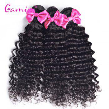 3pcs Burmese Virgin Deep Wave Human Hair Weave Extension - BLACK 28INCH*28INCH*30INCH