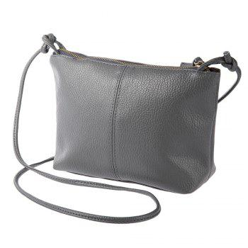 Buy Guapabien Ladies Old Classical Solid Color Zipper Multi Functional Shoulder Cross Body Bag GRAY