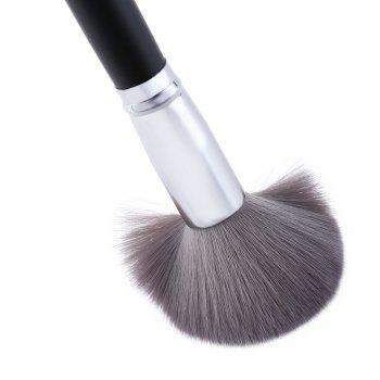 Single Antibacterial Bamboo Charcoal Fiber Powder Blush Brush Tool - BLACK