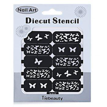 DIY Template Stickers for Nails Charms Flower Heart Bow Stamping Nail Art Manicure Guide - NS02 NS