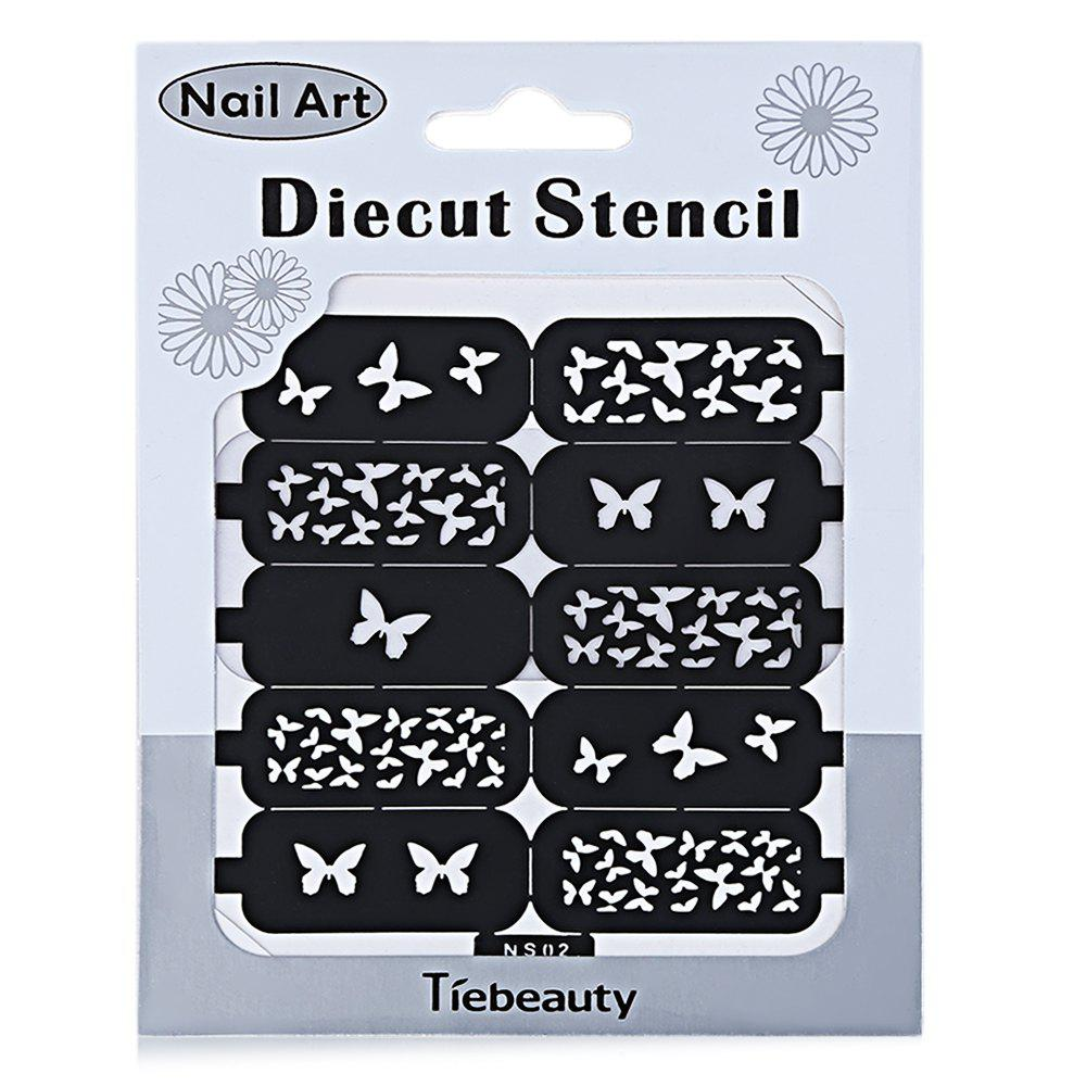 DIY Template Stickers for Nails Charms Flower Heart Bow Stamping Nail Art Manicure Guide - NS