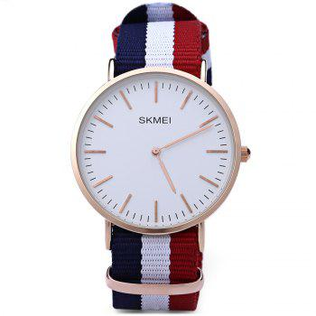 SKMEI 1181 Men Quartz Watch 30M Water Resistance Nylon Strap Ultrathin Dial Wristwatch