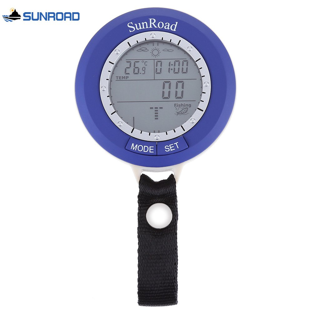 SUNROAD SR204 Multifunctional Digital Fishing Barometer Thermometer Altimeter Weather Forecast Countdown Timer - BLUE