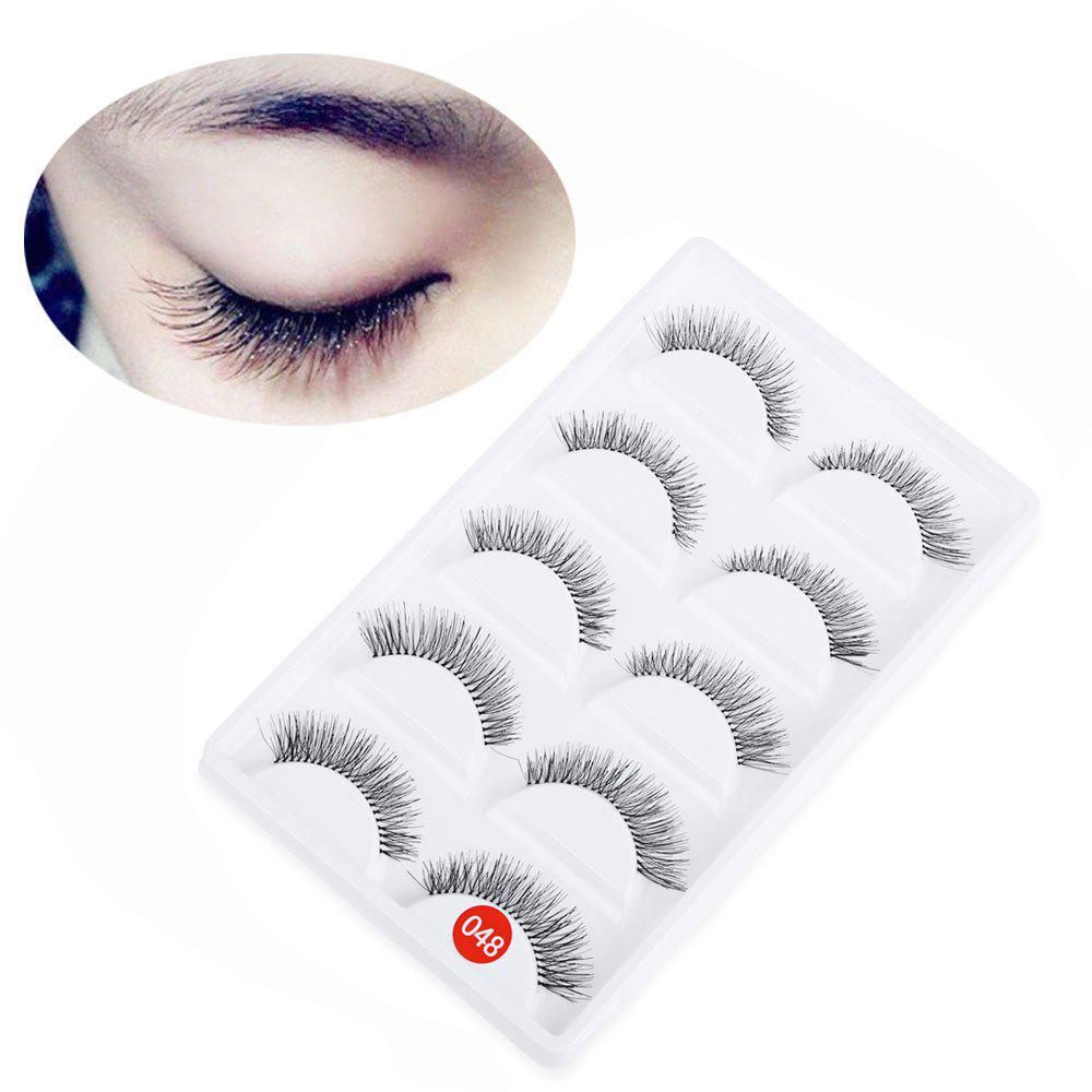 5 Pairs Hand Made Crossover Design Professional Thick Makeup Fake Eyelashes