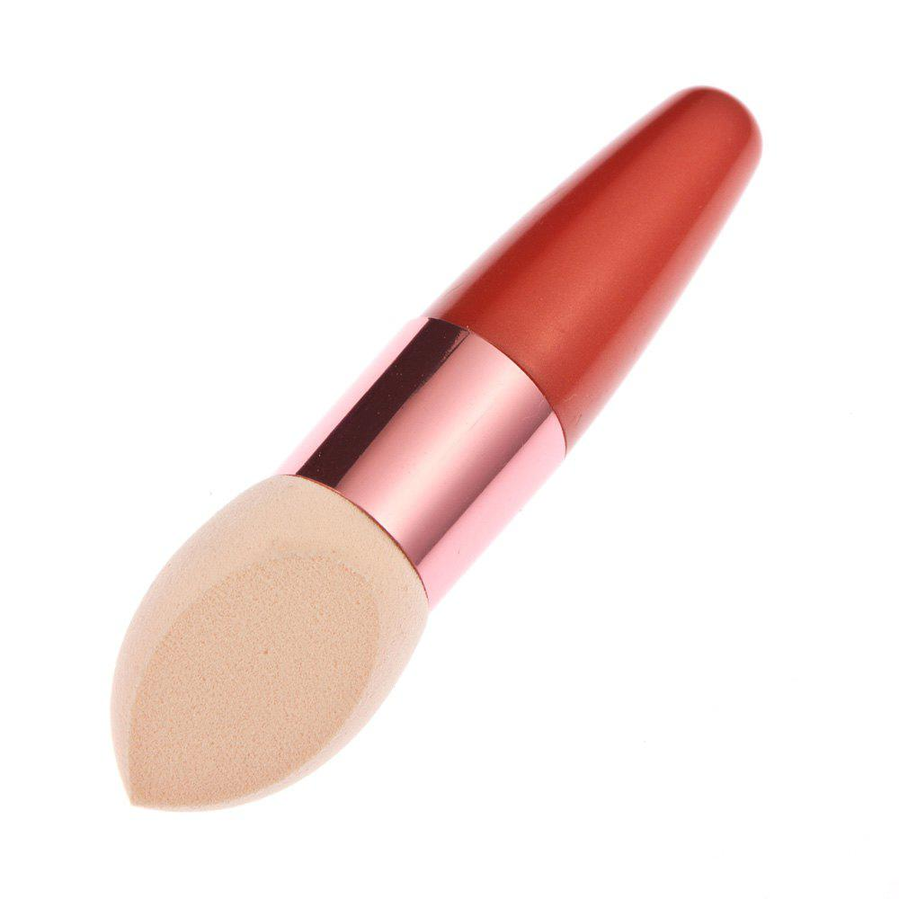 Makeup Cosmetic Liquid Cream Foundation Sponge Lollipop Brush - ORANGE RED