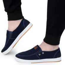 Casual Pure Color Slip On Denim Canvas Shoes for Men