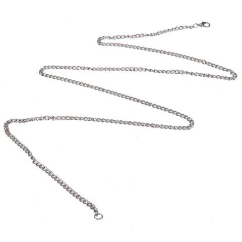 Pocket Watch Thin Matching Chain Lobster Clasp 80cm / 31.5 inch - SILVER