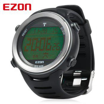 EZON L002 Radio Wave Calibrate Time Digital Men Sports Watch World Time Countdown Timer
