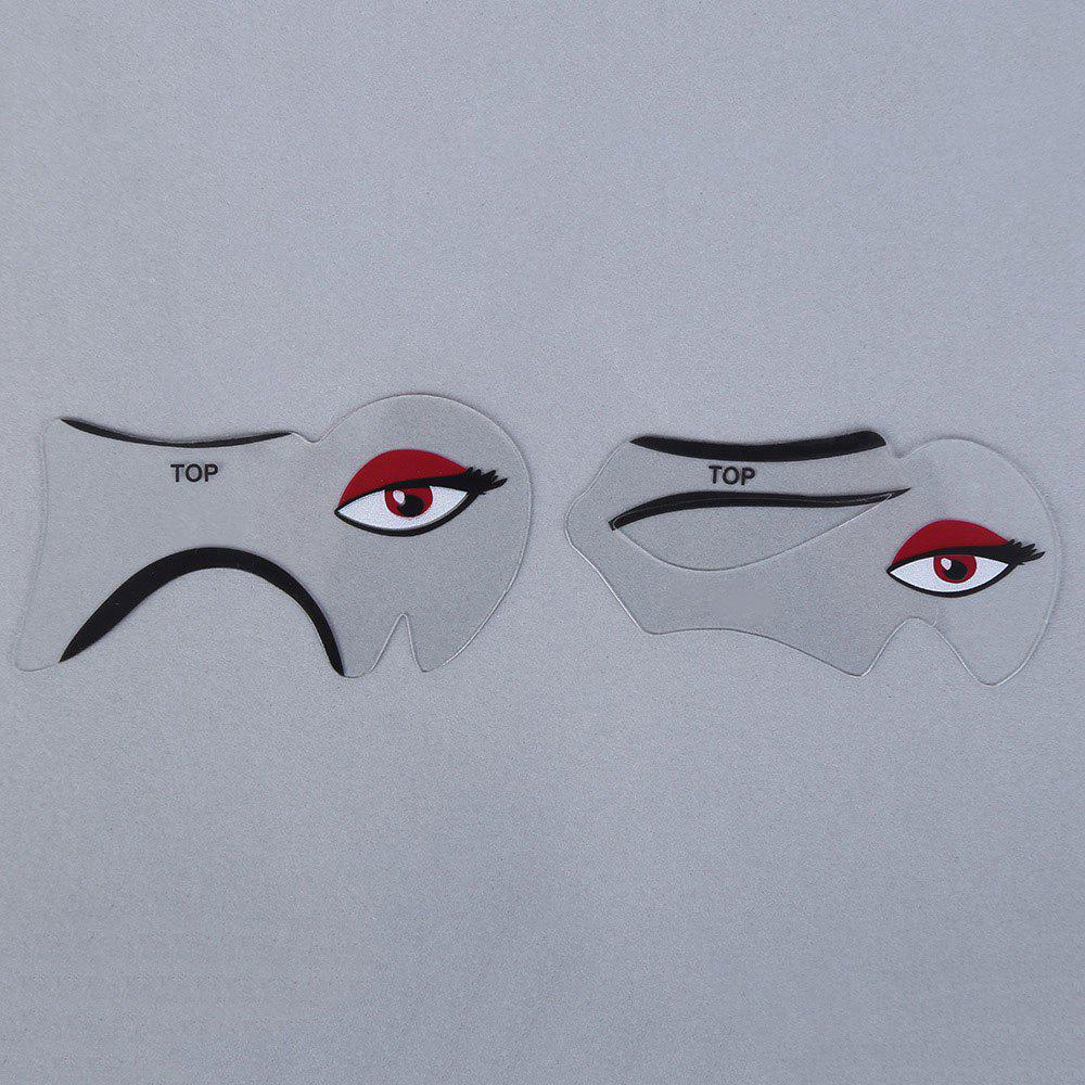 Makeup Eyeliner Eyebrow Stencil Kit Style Model Fundus Fard Paupiere DIY Card - TRANSPARENT