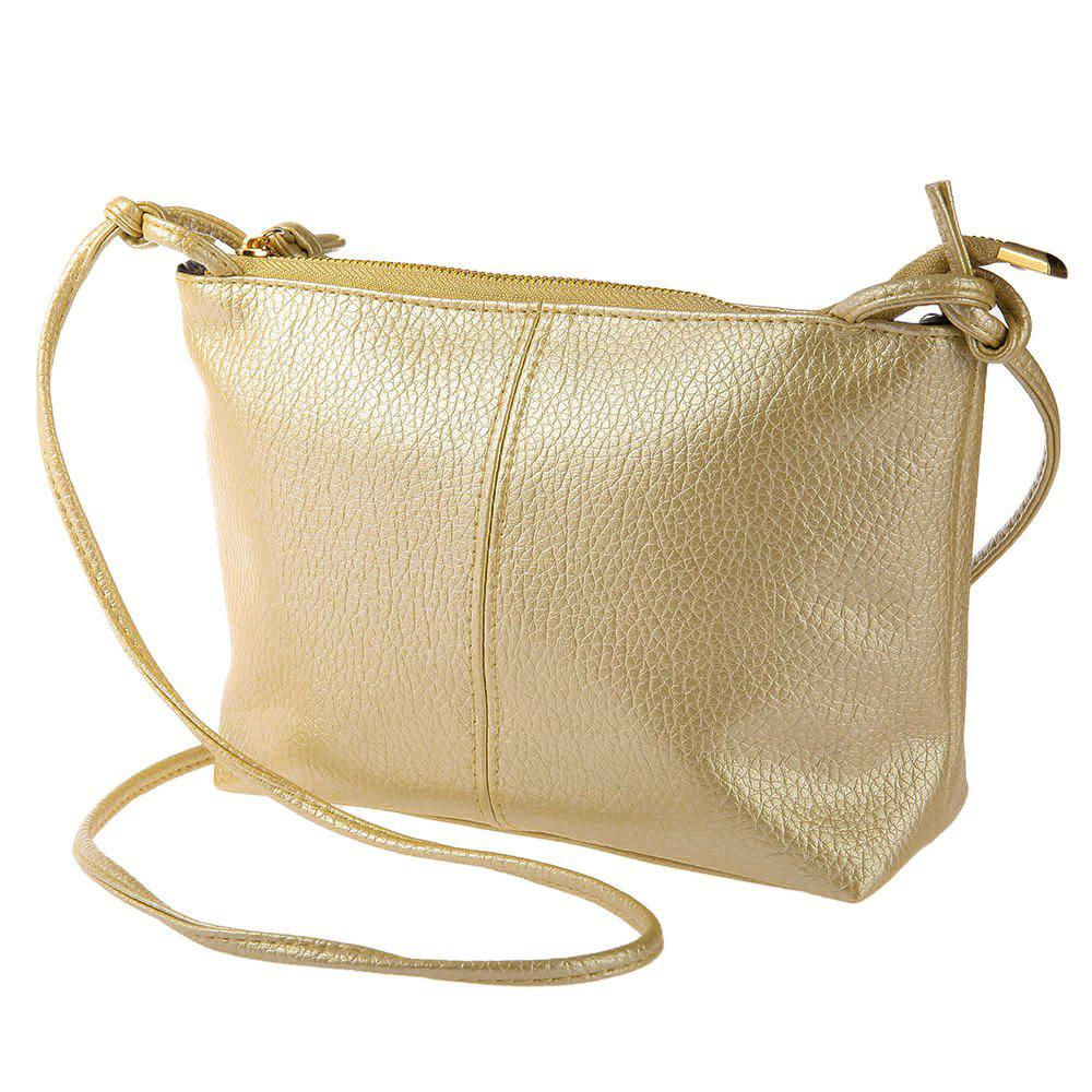 Ladies Retro Solid Color Zipper Multi Functional Shoulder Cross Body Bag