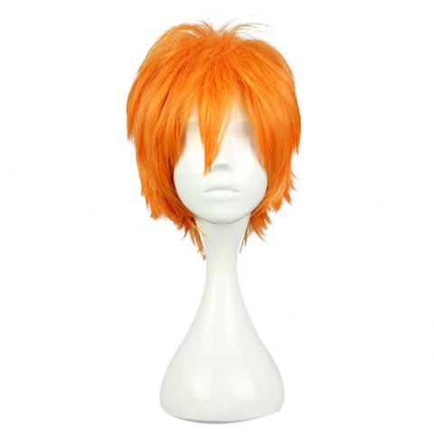 Hommes Court Anime Cosplay Cheveux Orange Perruque Koushi Sugawara Nishinoya Yuu Hinata Haikyuu - Orange 30*20*5CM