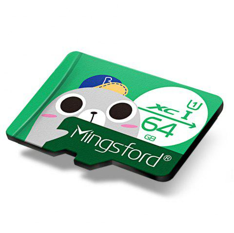 Mingsford 8G / 16G / 64G / 128G Micro SD / TF Card - GREEN 64GB