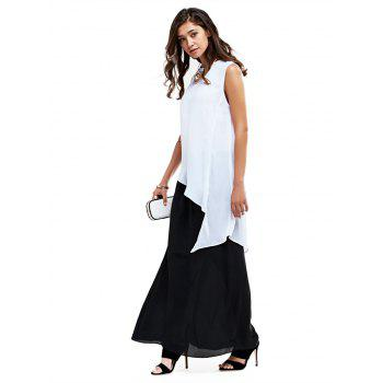 Chic Elastic Waist Solid Color Women Chiffon Skirt