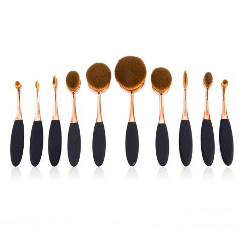 10pcs Professional Multi-size Cosmetic Makeup Brushes Sets - COLORMIX