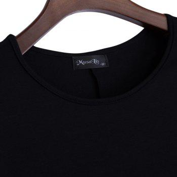 Brief Round Collar Batwing Sleeve Solid Color Loose Women T-Shirt - BLACK 2XL