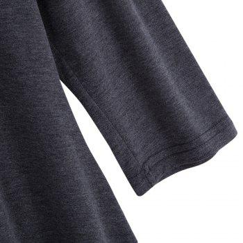 Simple Style V-Neck Solid Color Asymmetrical Women T-Shirt - GRAY 2XL