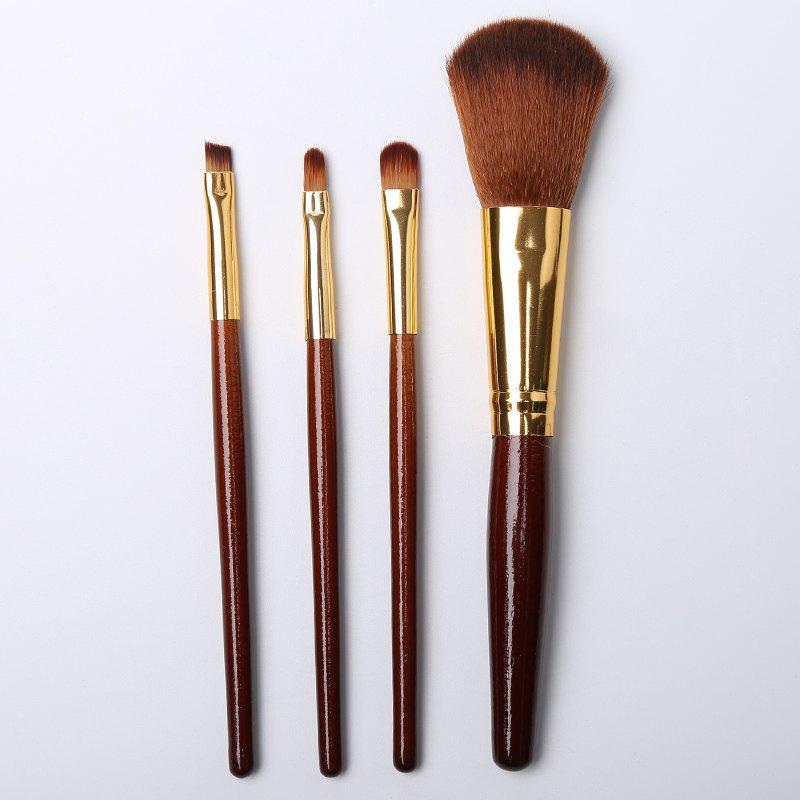 4pcs Makeup Cosmetics Liquid Foundation Blending Brush Set - LIGHT BROWN