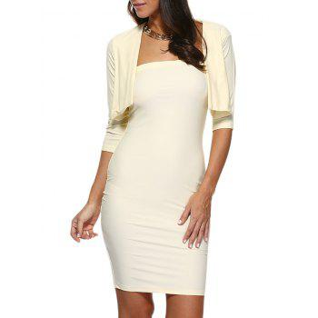 Strapless Bodycon Tube Dress and Jacket Twinset