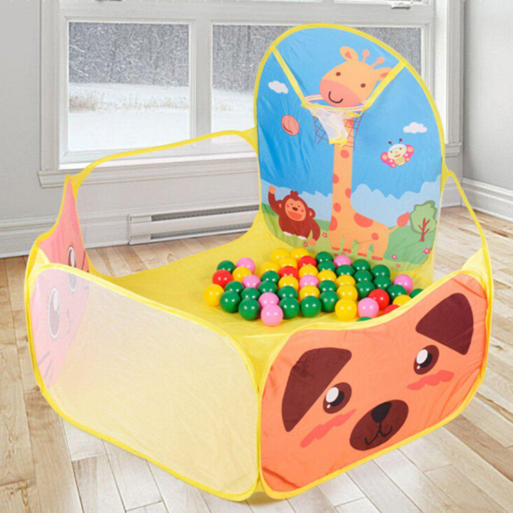 Foldable Funny Ocean Ball Pit Pool Tent Kids Play Set Toy - YELLOW