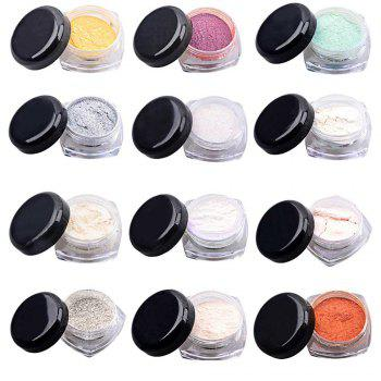 Colorful Mirror Chrome Effect Nails Powder - GOLDEN