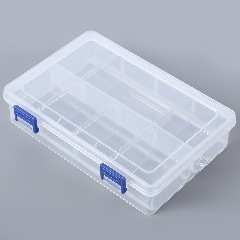 8 Grids Storage Box for Small Watch Parts Little Jewelry Decoration Container, Transparent