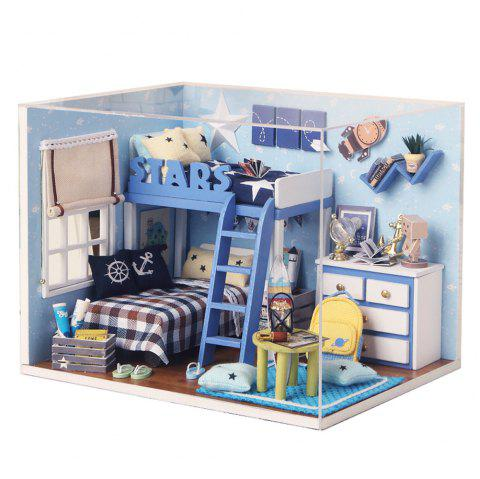 CUTEROOM H - 005 DIY Wooden Doll House Furniture Handcraft Miniature Box Kit - Star Tale - COLORMIX