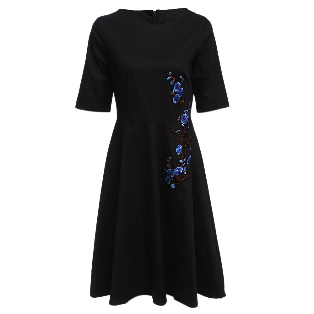 2018 Old Classical Style Sequin Design Floral Embroidery Women A ...
