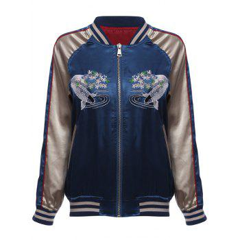 Fish Embroidery Souvenir Jacket